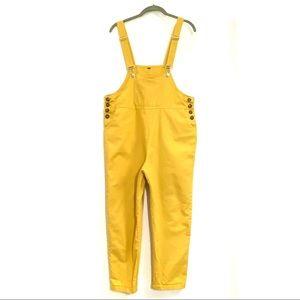 Lightweight Cotton Overalls Mustard Yellow M